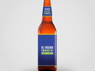Beer Bottle Mockup 3