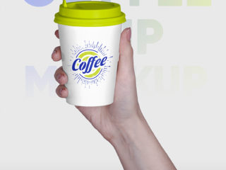 Coffee Cup in Hands Mockups