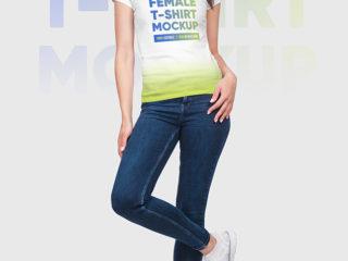Female T-Shirt Mockups Vol5. Part 2