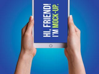 iPad In Hand Mockups