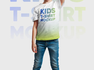 Kids Boy T-Shirt Mockups. Part 1