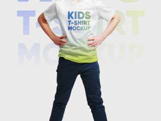 Kids Boy T-Shirt Mockups Vol2. Part 1