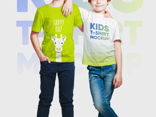 Kids Boy T-Shirt Mockups Vol3