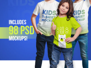Kids T-Shirt Bundle Mockups