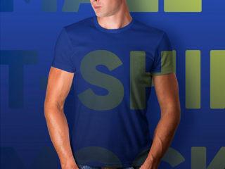 Male T-Shirt and Baseball Cap Mockups