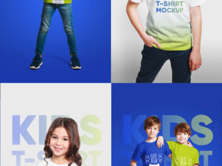 Mixed Kids T-Shirt Mockups