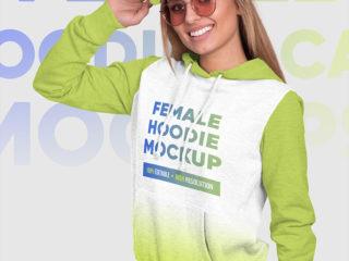 Female Hoodie and Baseball Cap Mockups Vol1