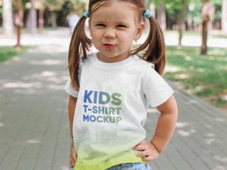 Kids Girl T-Shirt Mockups Vol 3. Part 2