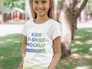 Kids Girl T-Shirt Mockups Vol 4