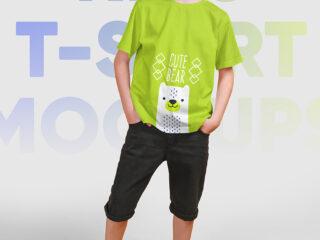 Kids Boy T-Shirt PSD Mockups Vol5