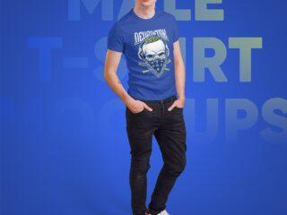 Male T-Shirt PSD Mockups Vol3